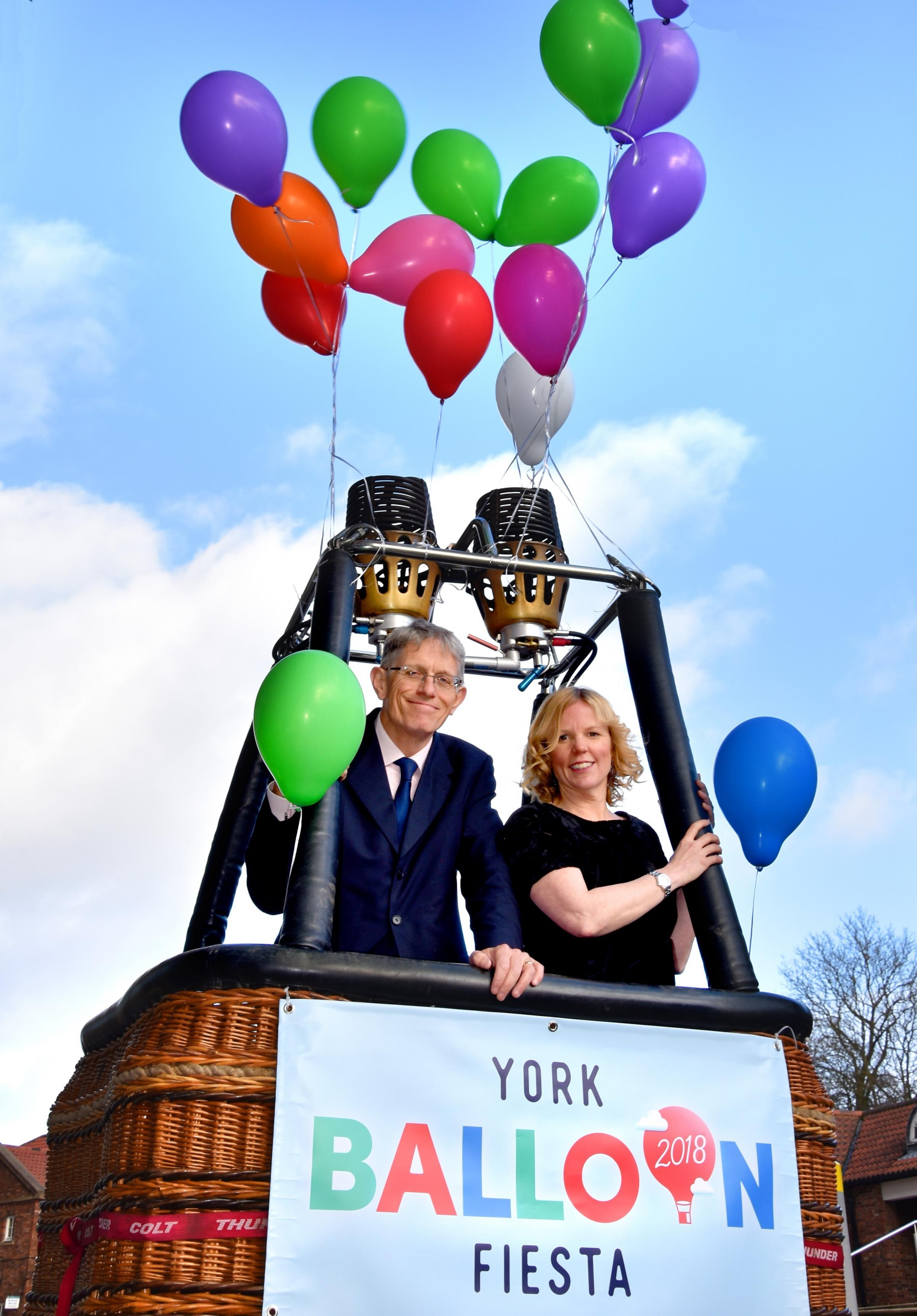 Visit York's annual conference with Simon Calder and Sally Greenaway  promoting by York Balloon Fiesta  Picture Frank Dwyer.