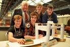 FLASHBACK: Pictured at the tenth Rotary Technology Tournament held at the National Railway Museum are winners of the senior section from Lady Lumley's School Christian Nicholson, left, Lord Mayor of York Ian Gillies who made the presentation, Duncan A