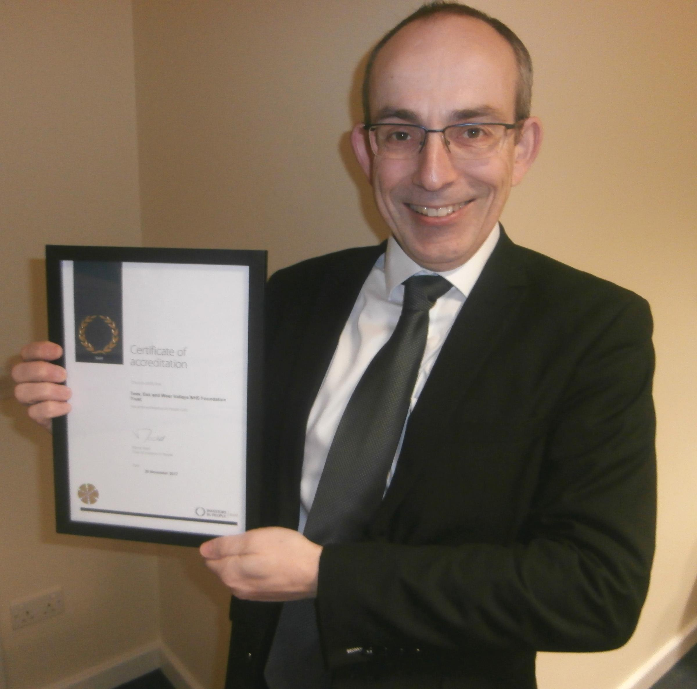 Gold award for mental health trust