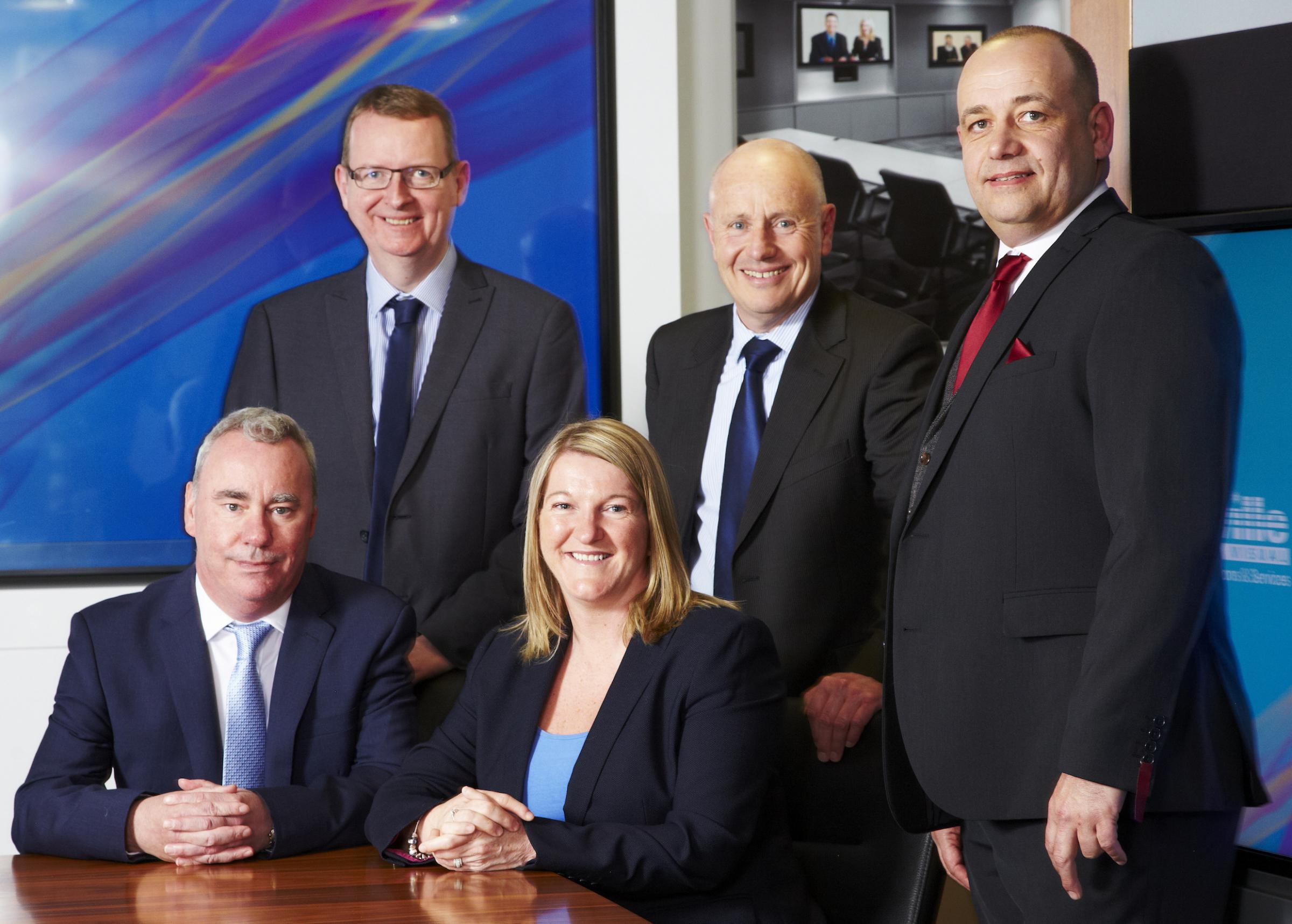 The Saville board, from left, Graham Carling, Andy Dyson, Ann Pickard, Colin Nixey, Colin Etchells