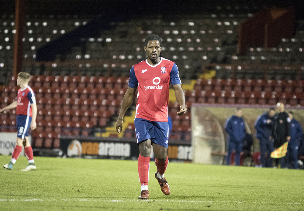 BACK IN ACTION: Clovis Kamdjo played his first football since November 2016 in York City's North Riding Cup tie with Boro Rangers. Picture: Ian Parker