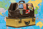 York Press: Suitcases with Map