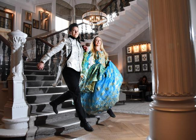 York Grand Opera House's Panto for 2018 will be Cinderella. Pictured at the Principal Hotel York are Emily Thane as the Prince and Danielle Cooper as Cinderella. Picture David Harrison.
