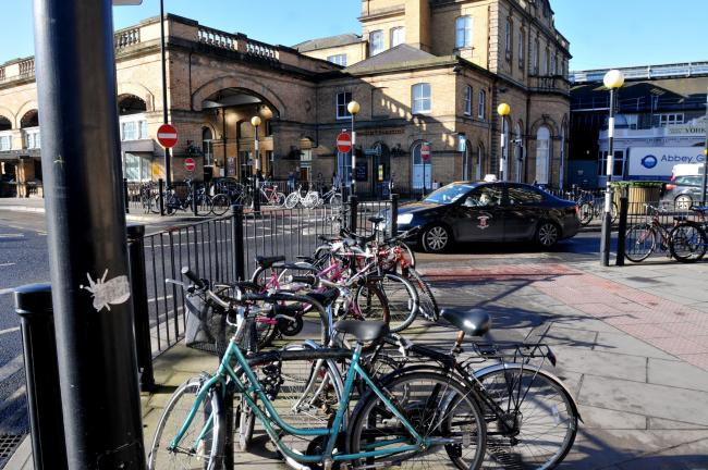 Bikes at York Railway Station were targeted Picture: Frank Dwyer