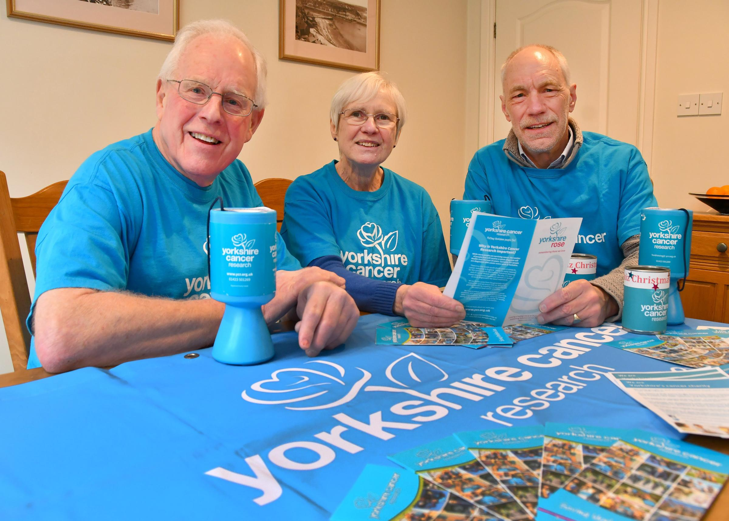 Members of the Pickering branch of Yorkshire Cancer Research Barry Howard, Val Chadwick and Chris Thompson