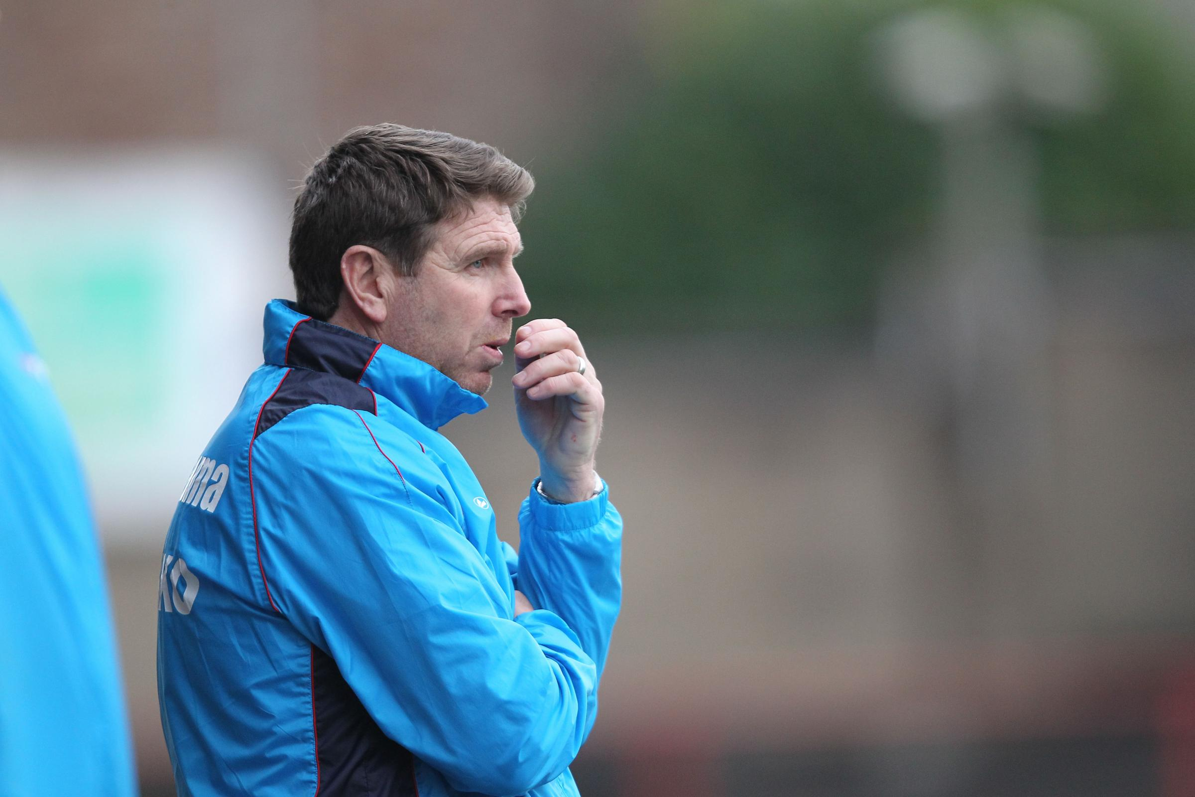 NAIL-BITER: Martin Gray watches on as his York City team produce the best display under his tenure to beat table-topping Salford 1-0. Picture: Gordon Clayton