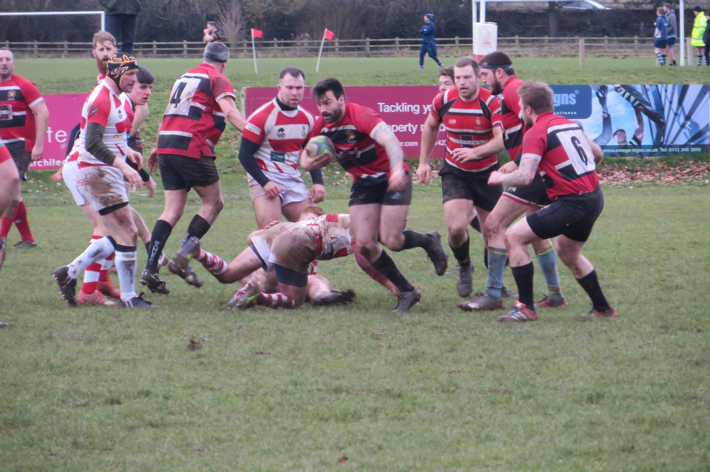 BACK ON THE HORSE: Nestle Rowntree recovered from last week's defeat at Moortown to put Wetherby 3rds to the sword and claim a bonus point. Picture by Kenny Hepworth.