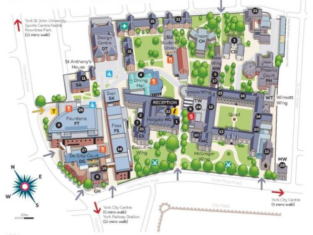 york st john campus map York St John Bosses Hail Bold And Exciting Projects And york st john campus map