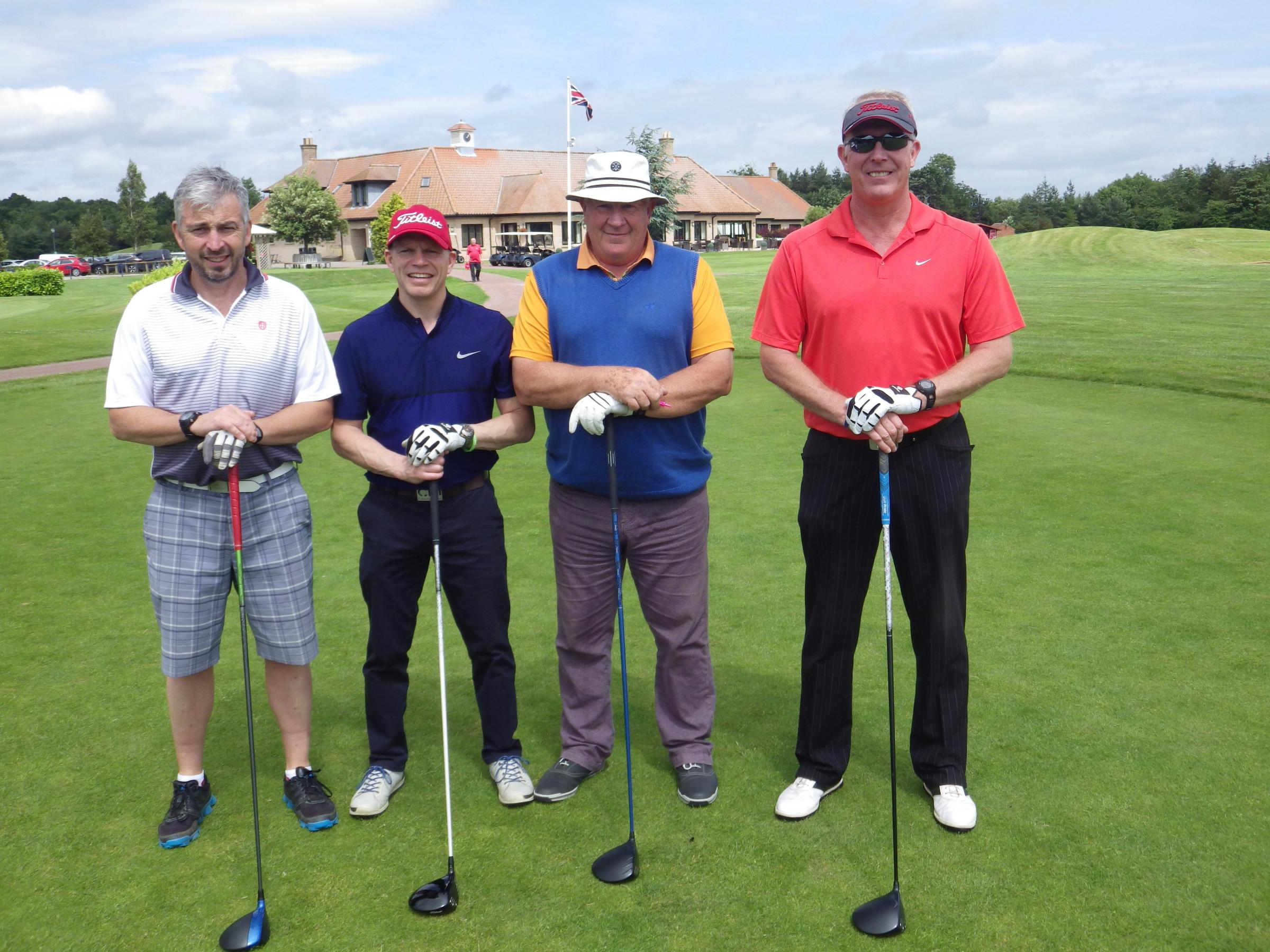 Teeing off for charity golf tournament