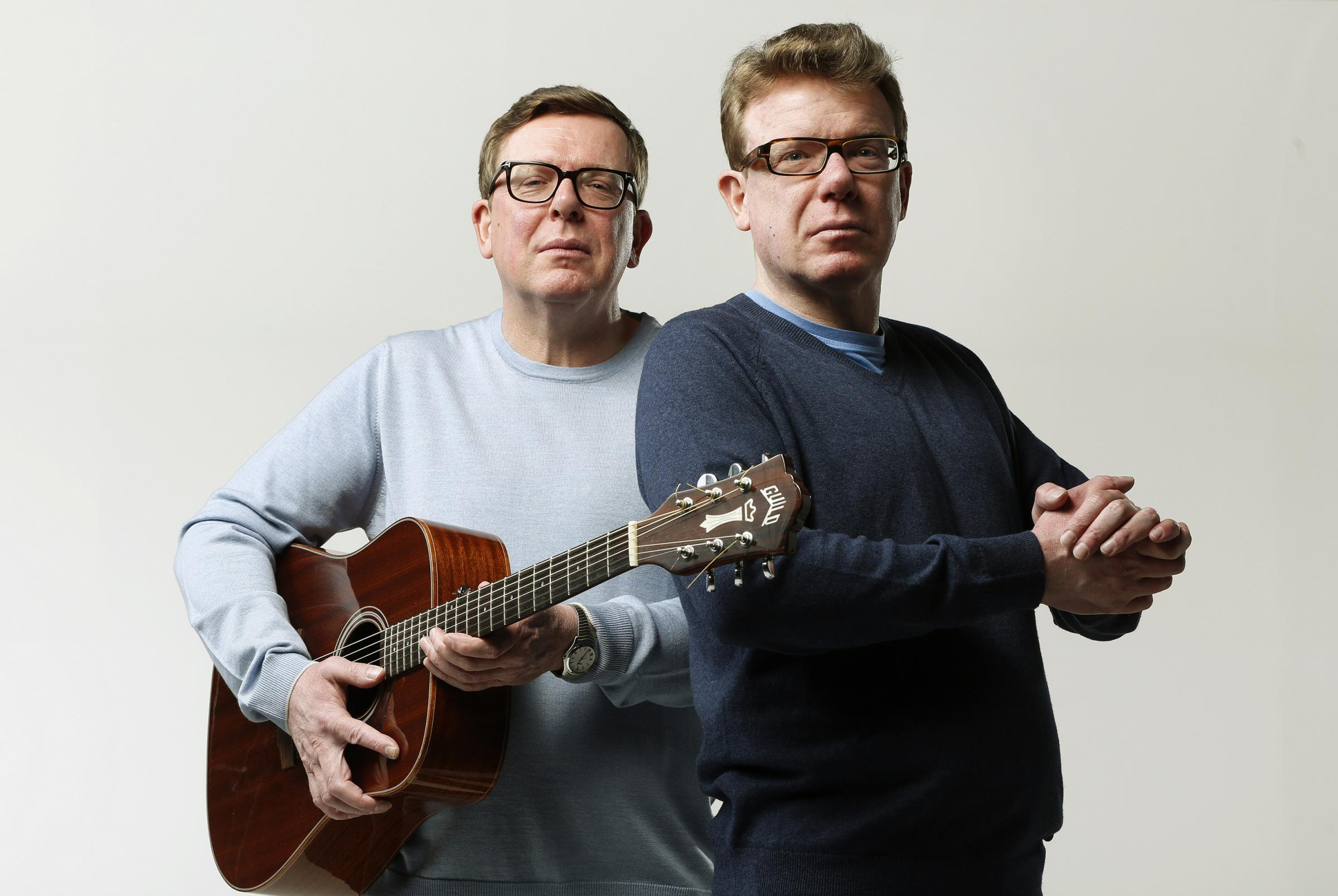 Craig and Charlie Reid, The Proclaimers. Seen here in studio shoot in Leith in 2018. Edinburgh, Scotland, UK  Edinburgh, Scotland UK 22/01/2018..© COPYRIGHT PHOTO BY MURDO MACLEOD..Tel + 44 131 669 9659..Mobile +44 7831 504 531..Email:  m@murd