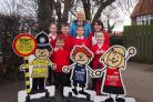 Dringhouses headteacher Gill Williams and pupils at Dringhouses Primary School launch the campaign..
