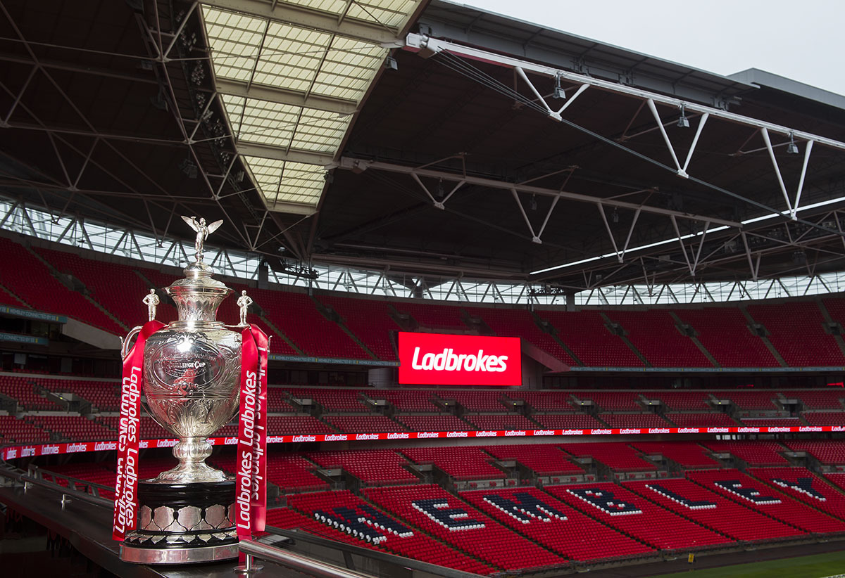 The Ladbrokes Challenge Cup Trophy. Picture: Alex Broadway/SWpix.com