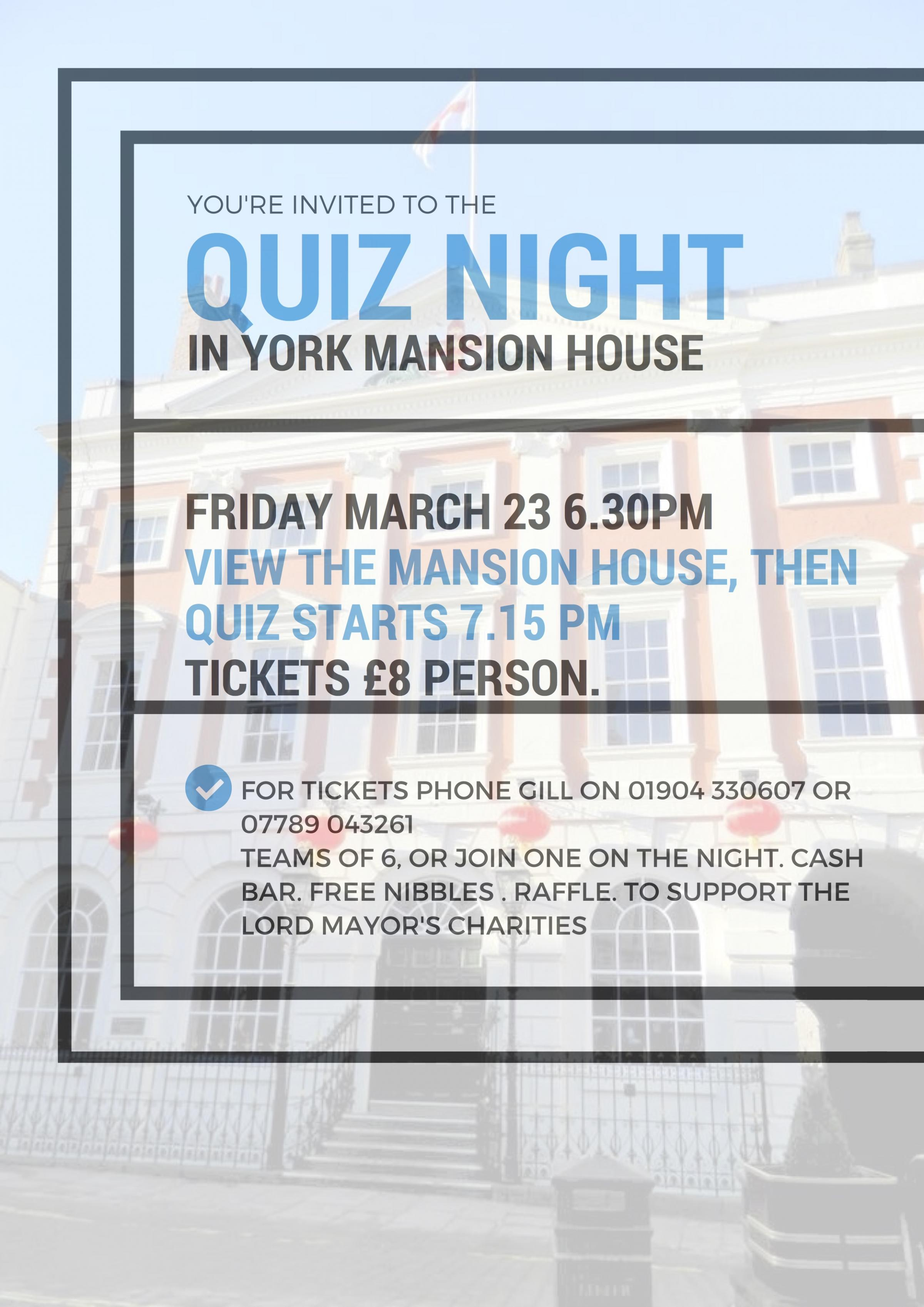 Quiz Night in the Mansion House