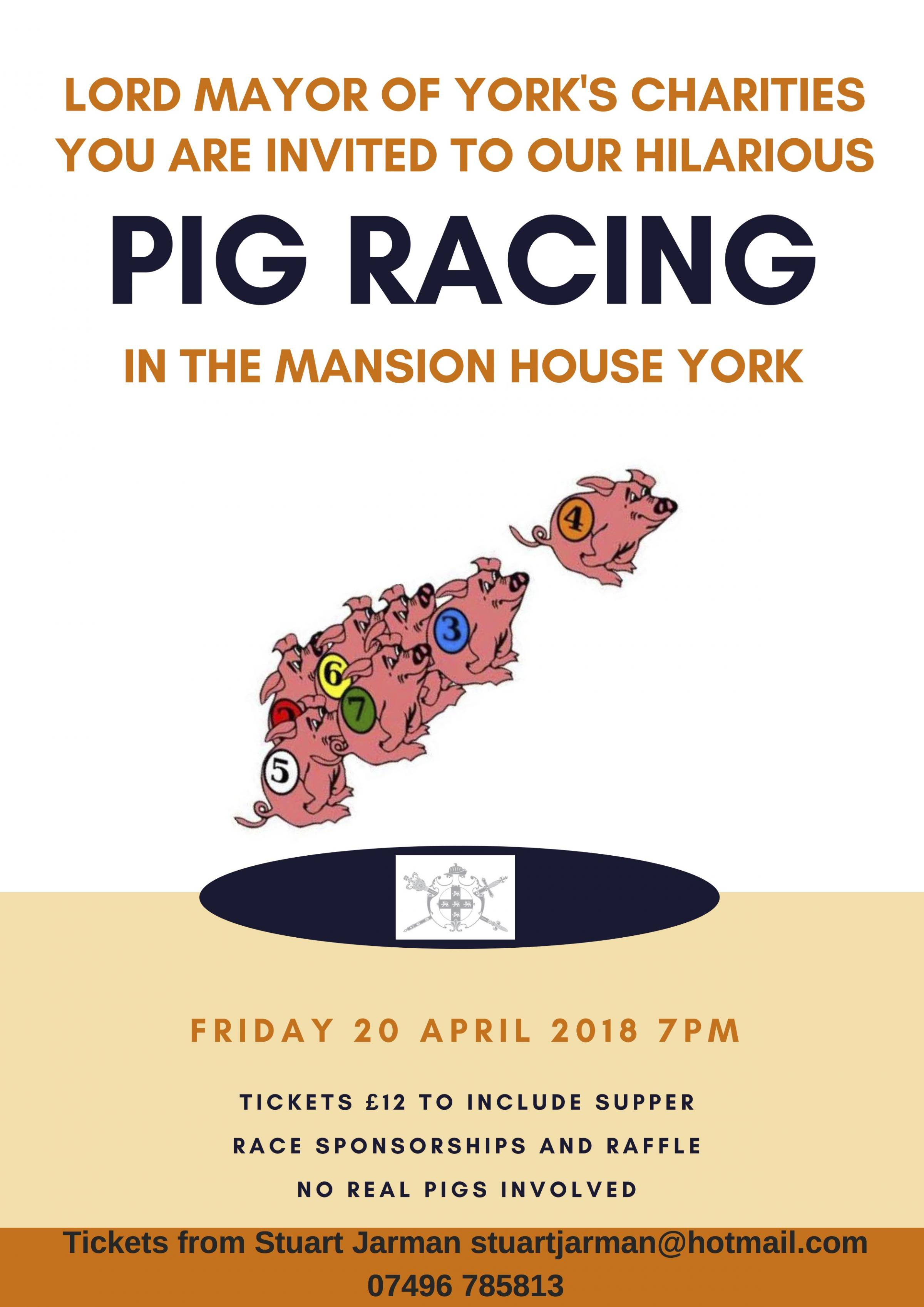 Pig Racing the Mansion House
