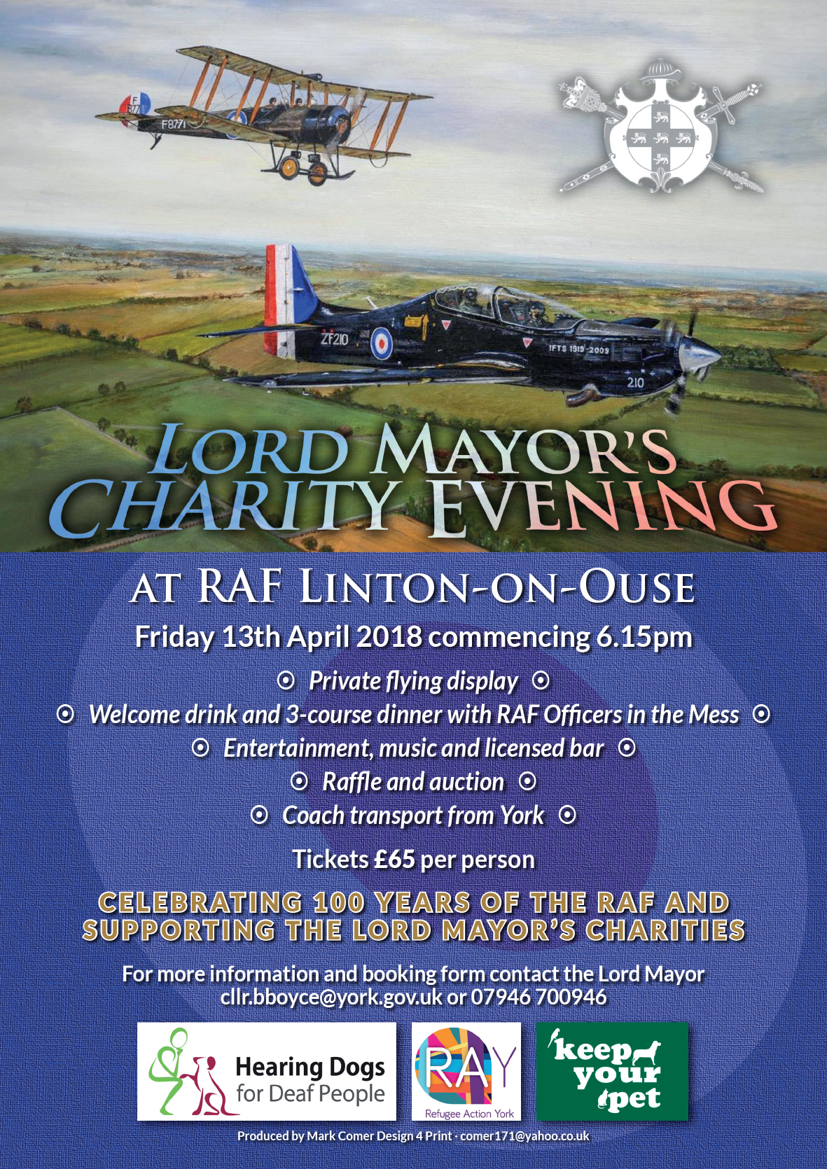 Evening at RAF Linton-on-Ouse with dinner and flying display