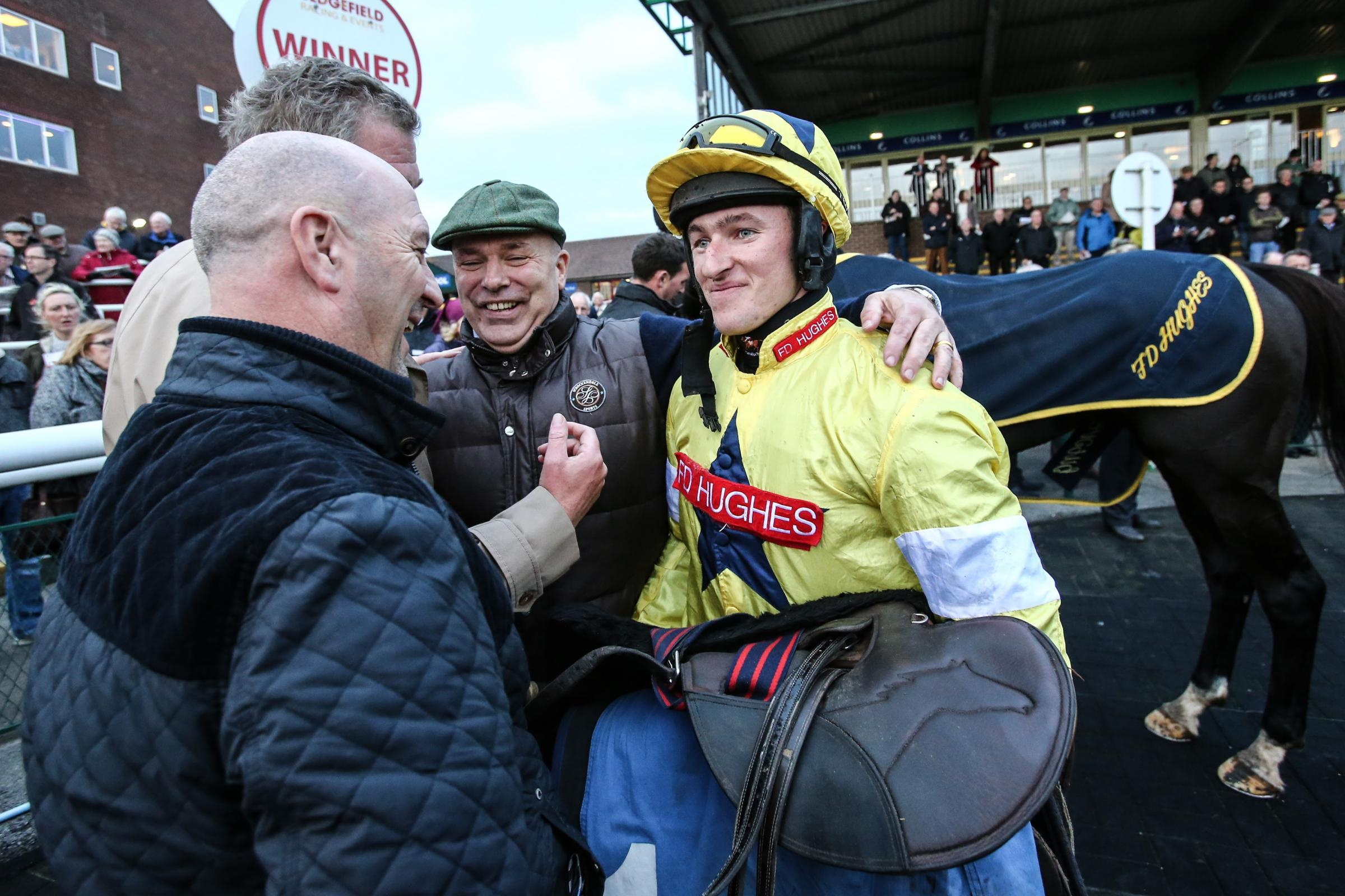 Jockey Adam Wedge has solid claims for a winner ay Catterick today – Picture: Tom Banks