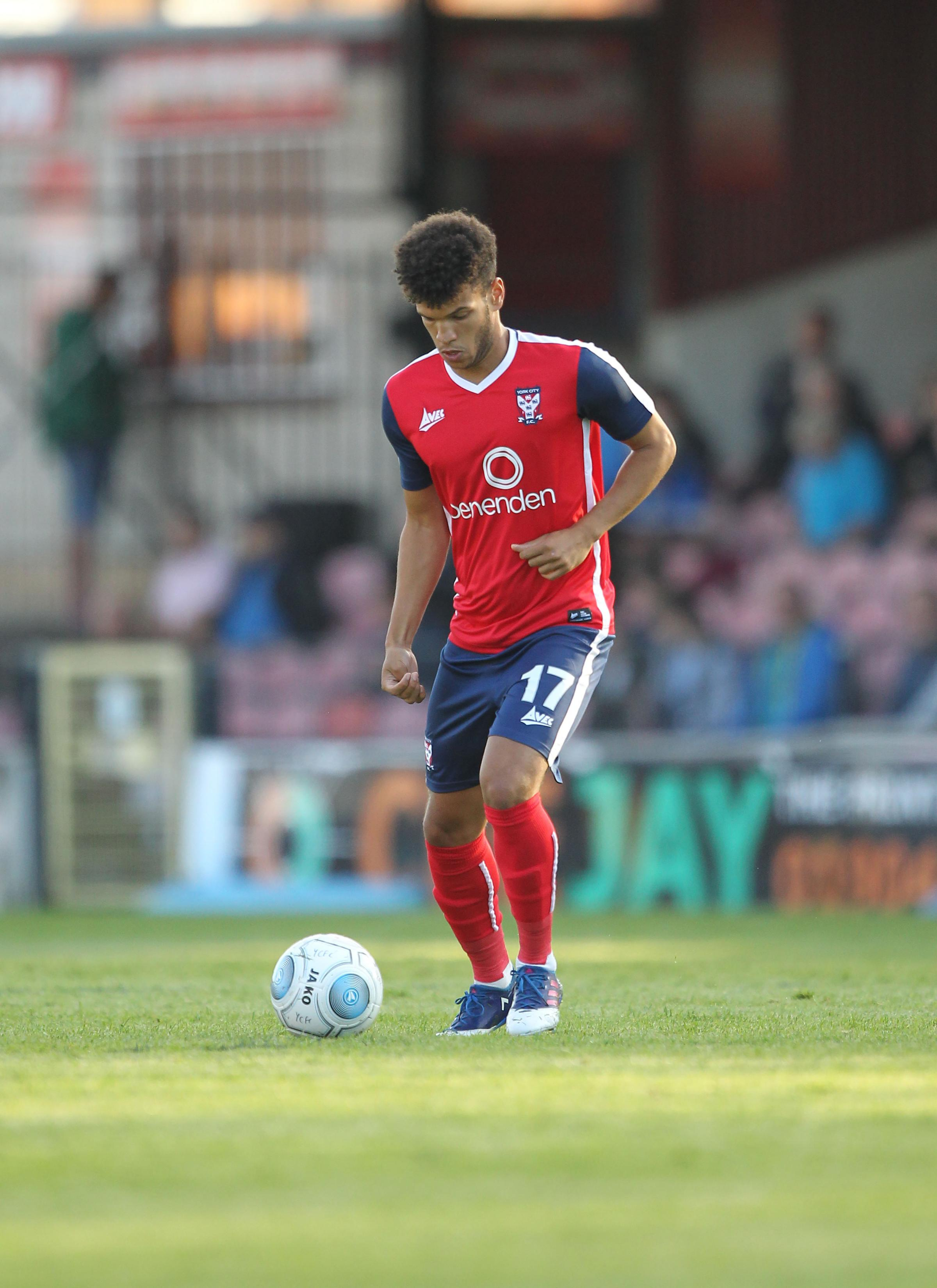 WHARTS AND ALL: York City midfielder Theo Wharton is doing his best to convince manager Martin Gray he is worthy of first-team selection