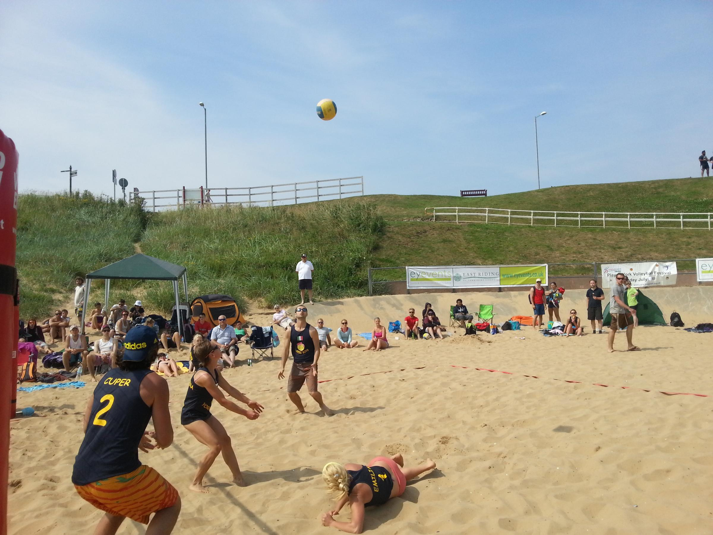 Volleyball at Bridlington South Beach.