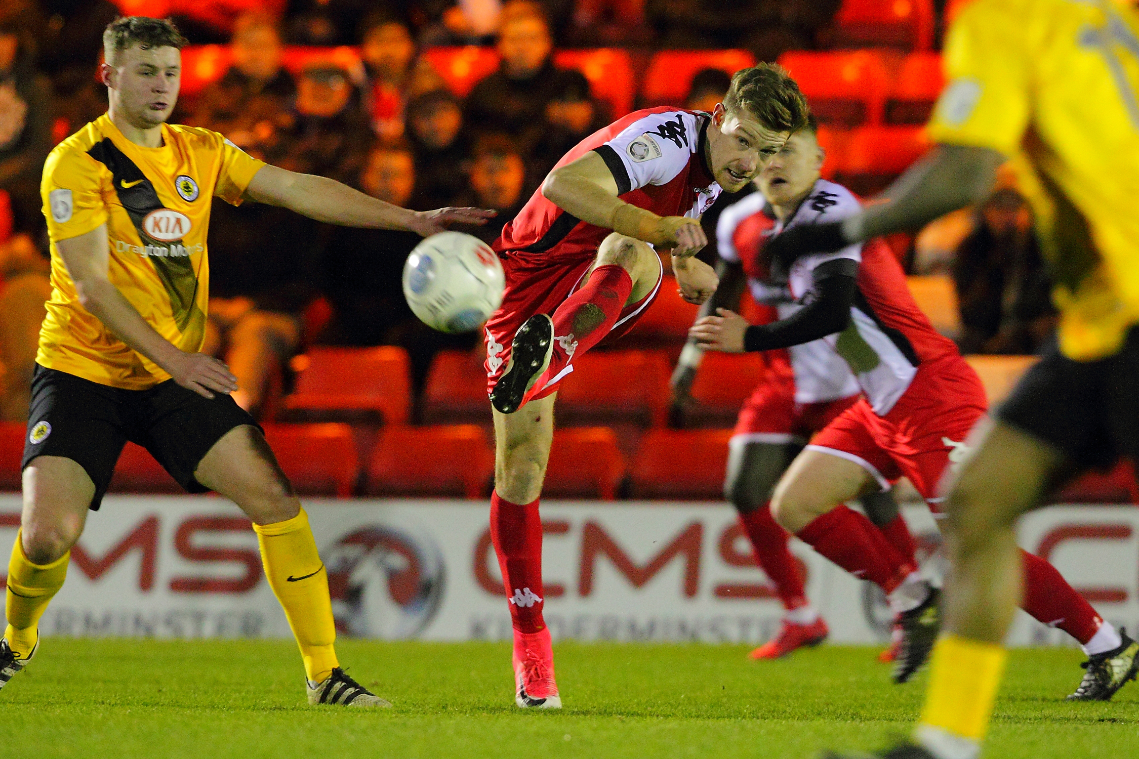 IRON WILL: Joe Ironside's single-minded forward play has helped him net 18 times for Kidderminster Harriers this season, but the ex-Sheffield United attacker is still not certain of a starting place against York City tonight
