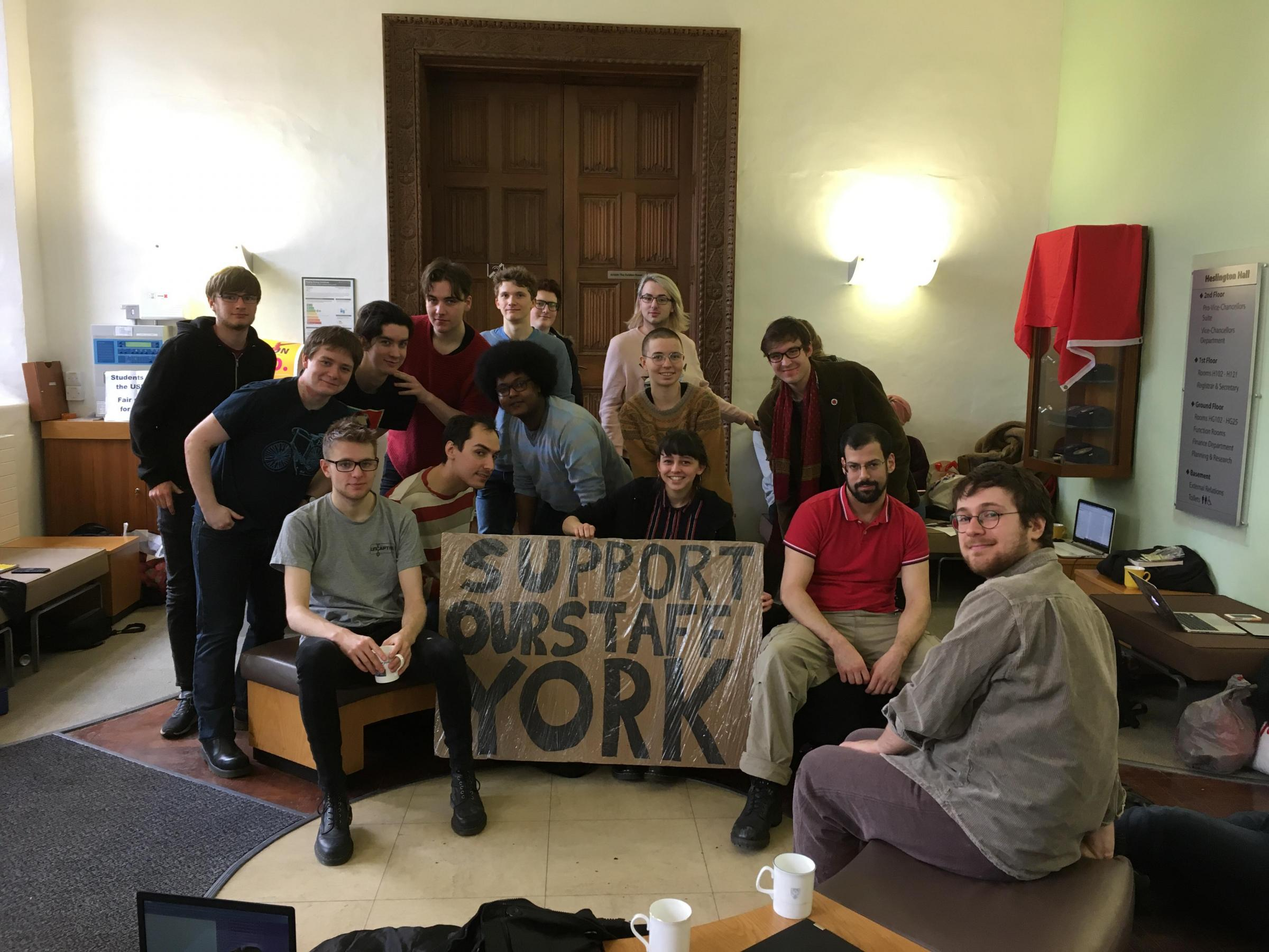 Students occupy Heslington Hall in support of lecturers in pension dispute