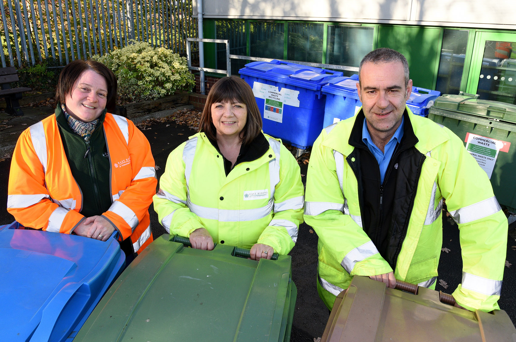 1.Waste and recycling officers Emma Jasper, Karen Wagg and Chris Black will be out and about for the Spring Clean campaign.