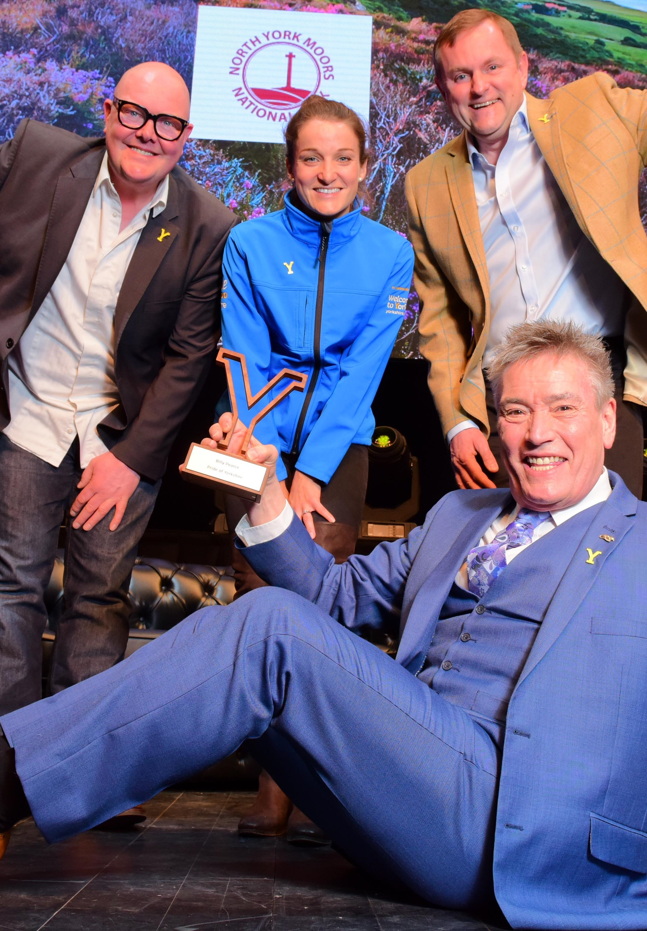 Billy Pierce, Lizzie Deignan, Sir Gary Verity and Emmerdale's Dominic Brunt