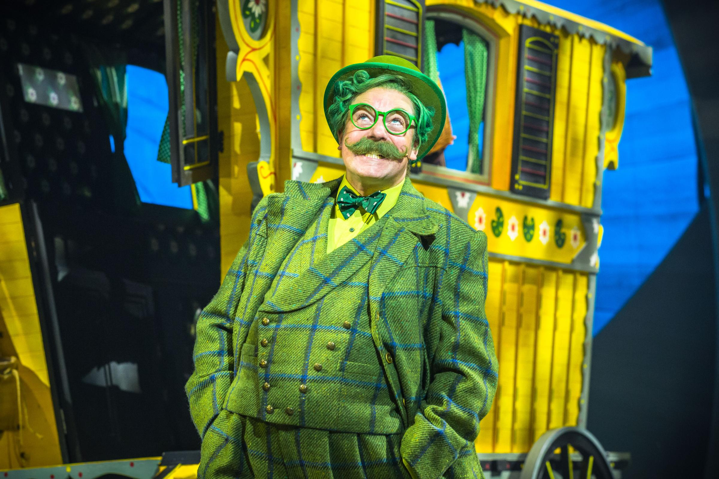 Rufus Hound as Mr Toad in The Wind In The Willows. Picture: Marc Brenner