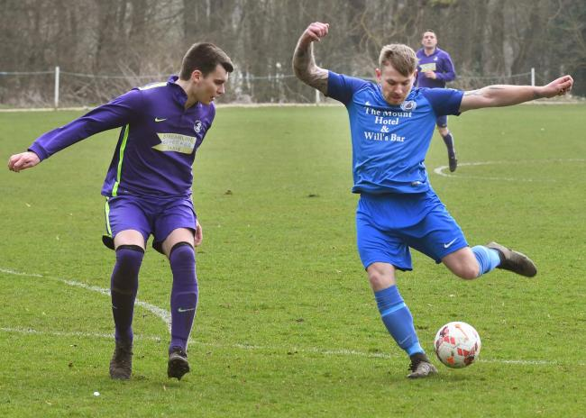 Marcus Godsell, right, was on target for Old Malton St Mary's