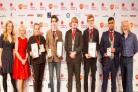 PRIZE: Sophie Search from The Mount School, York, pictured third from the left, accepting her award at The Big Bang UK Young Scientists & Engineers Competition