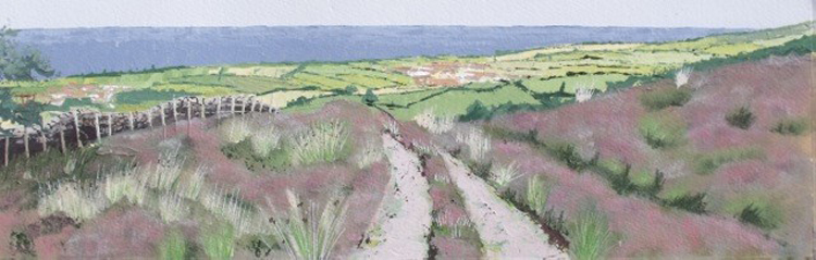 Moor, Pasture, Sea, Sat On Black Brow, Grosmont, by Hilary Thorpe