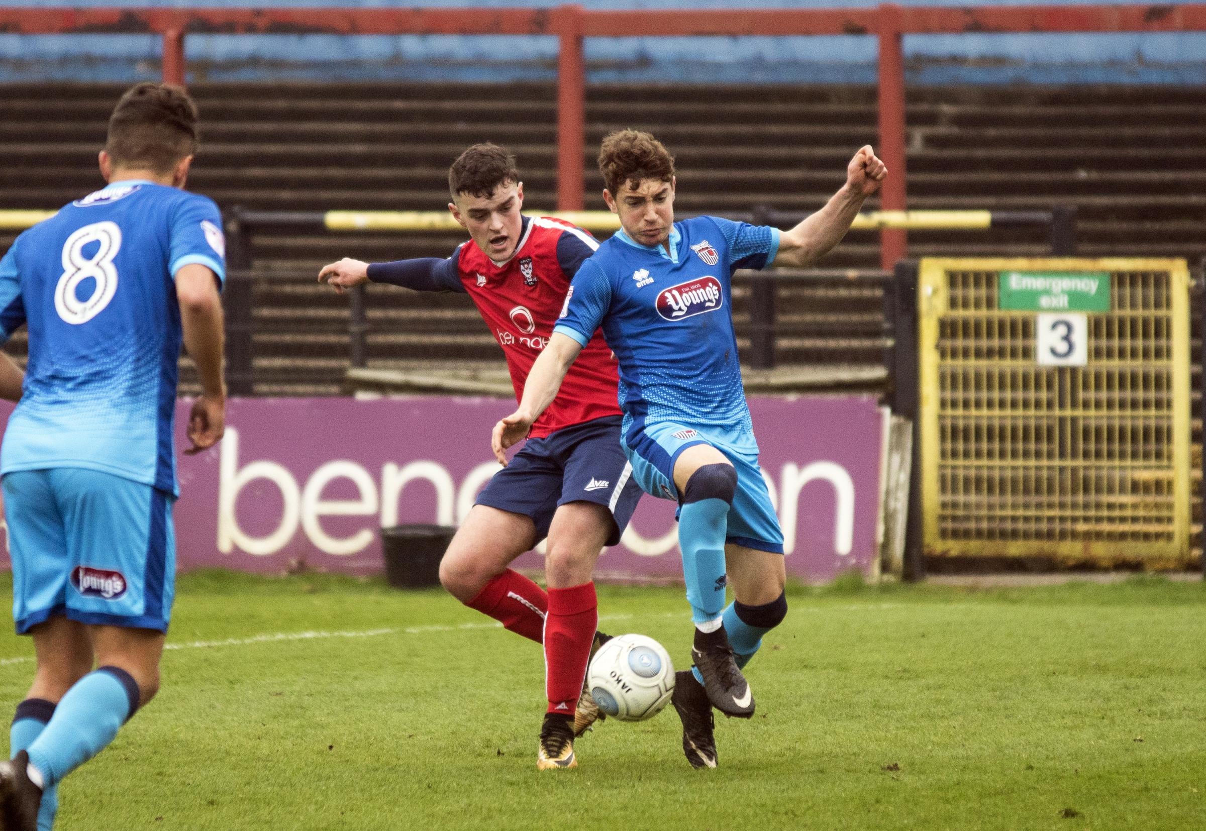 ON TARGET: Marksman Flynn McNaughton in action for York City reserves against Grimsby Town. Picture: Ian Parker