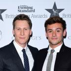 York Press: Tom Daley and Dustin Lance Black (PA)