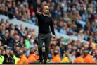 Pep Guardiola did not want to criticise his side's fans after they invaded the pitch to celebrate (Nigel French/PA)