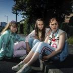 York Press: Ruby (Liv Hill), Holly (Molly Windsor), and Amber (Ria Zmitrowicz), who appear in the BBC drama based on the Rochdale abuse scandal (Ewen Spencer/BBC)