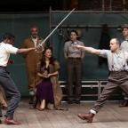 York Press: Actors performing a scene from Hamlet at Shakespeare's Globe Theatre in London (Yui Mok/PA)