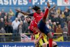 KICK-START: Out-of-contract York City utility man Clovis Kamdjo, pictured during his only first-team appearance in the last 17 months against Harrogate Town due to injury, is hoping for the chance to resurrect his Bootham Crescent career in the summer