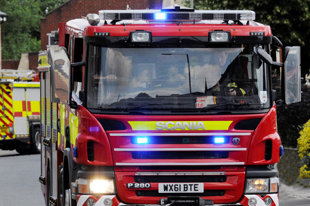 Fire crews called to three vehicle collision
