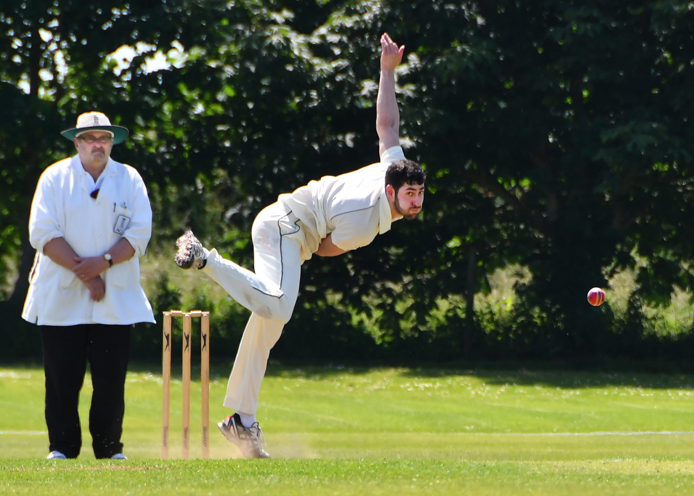 ON THE BALL: Nadeem Shefta took 4-43 to help Sheriff Hutton Bridge to a seven-wicket win at Sewerby