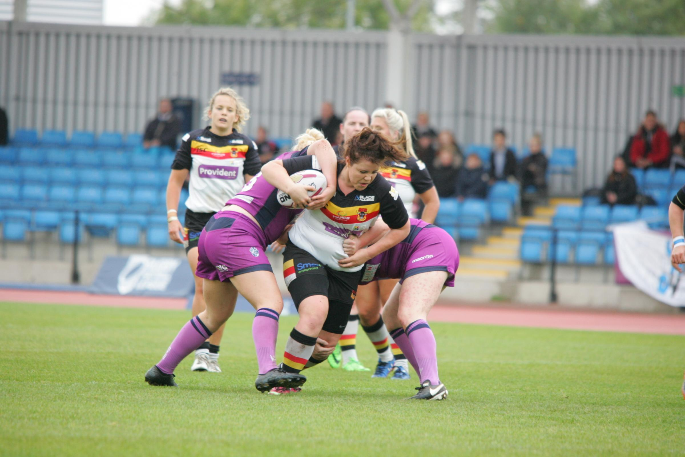 HAT-TRICK: Prop Debbie Smith, who scored a hat-trick for Bradford Bulls Women against York City Knights Ladies