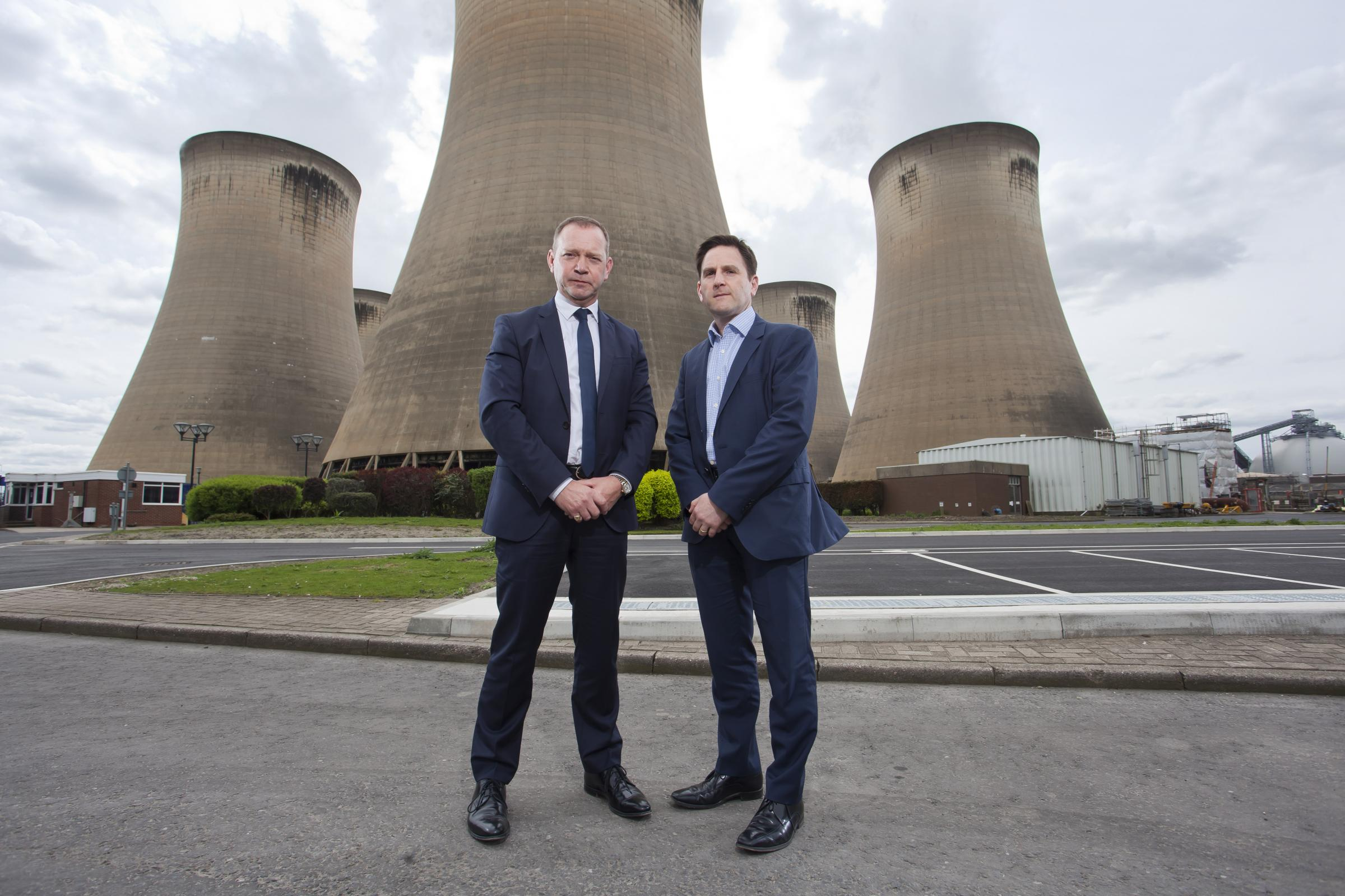 John Procter MEP and Drax Power CEO Andy Koss