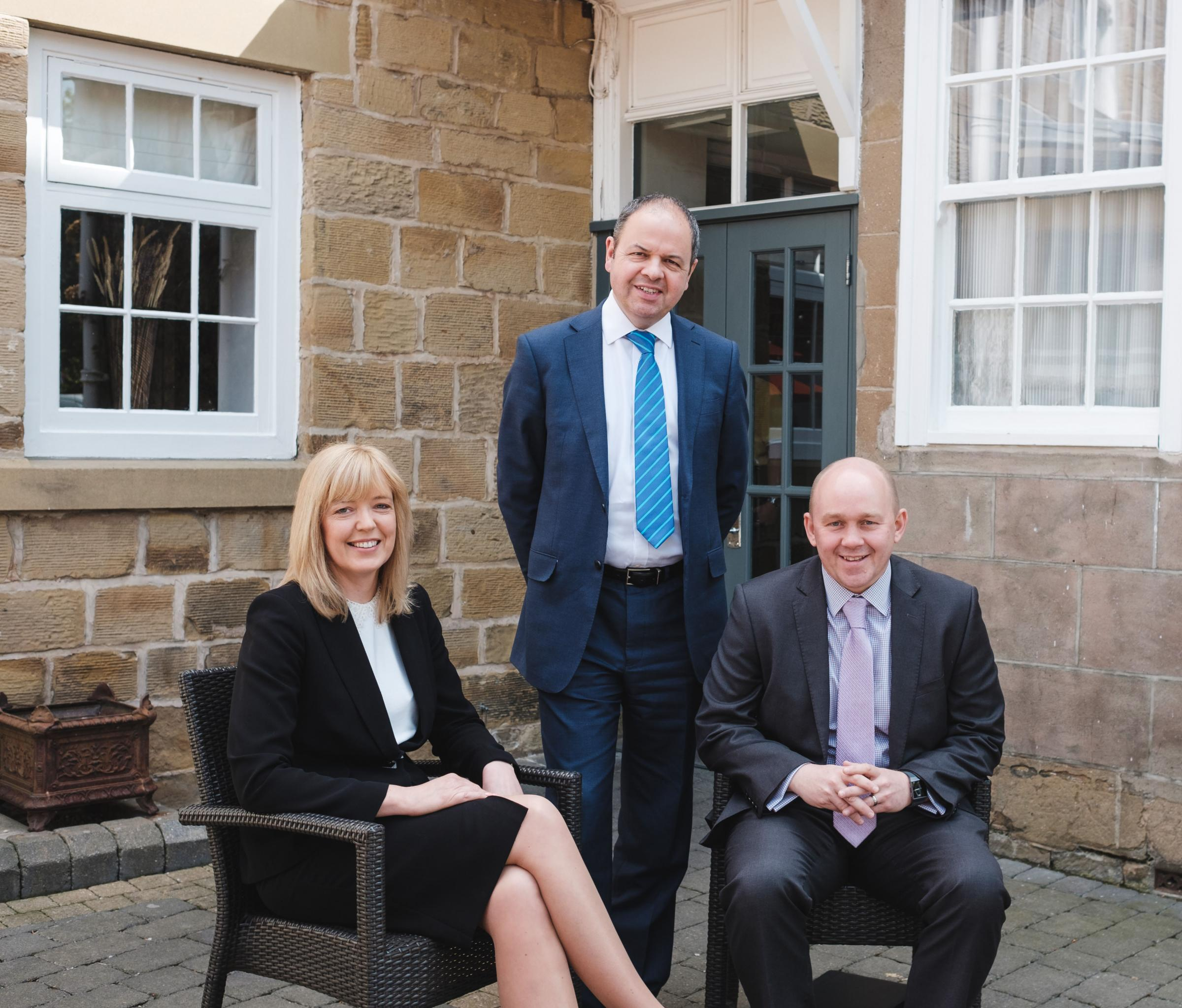 BHP Partner promotion, from left, Jenny Hurst, Paul Captieux and Dean Pearson