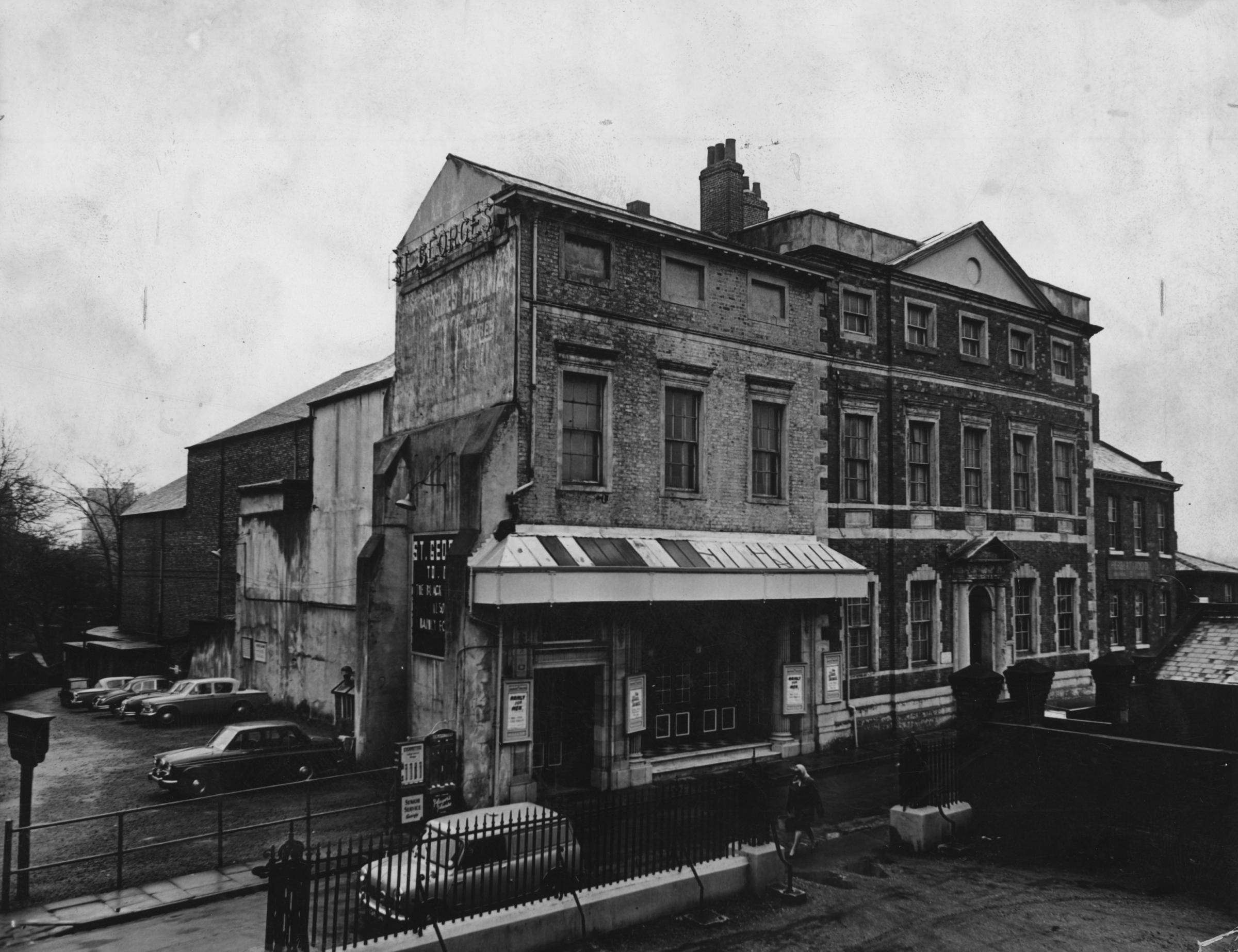 St George's Hall Cinema, now Fairfax House, pictured in 1965 after the cinema had closed