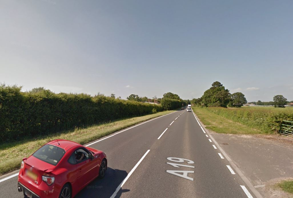 A19 closed in both directions after crash