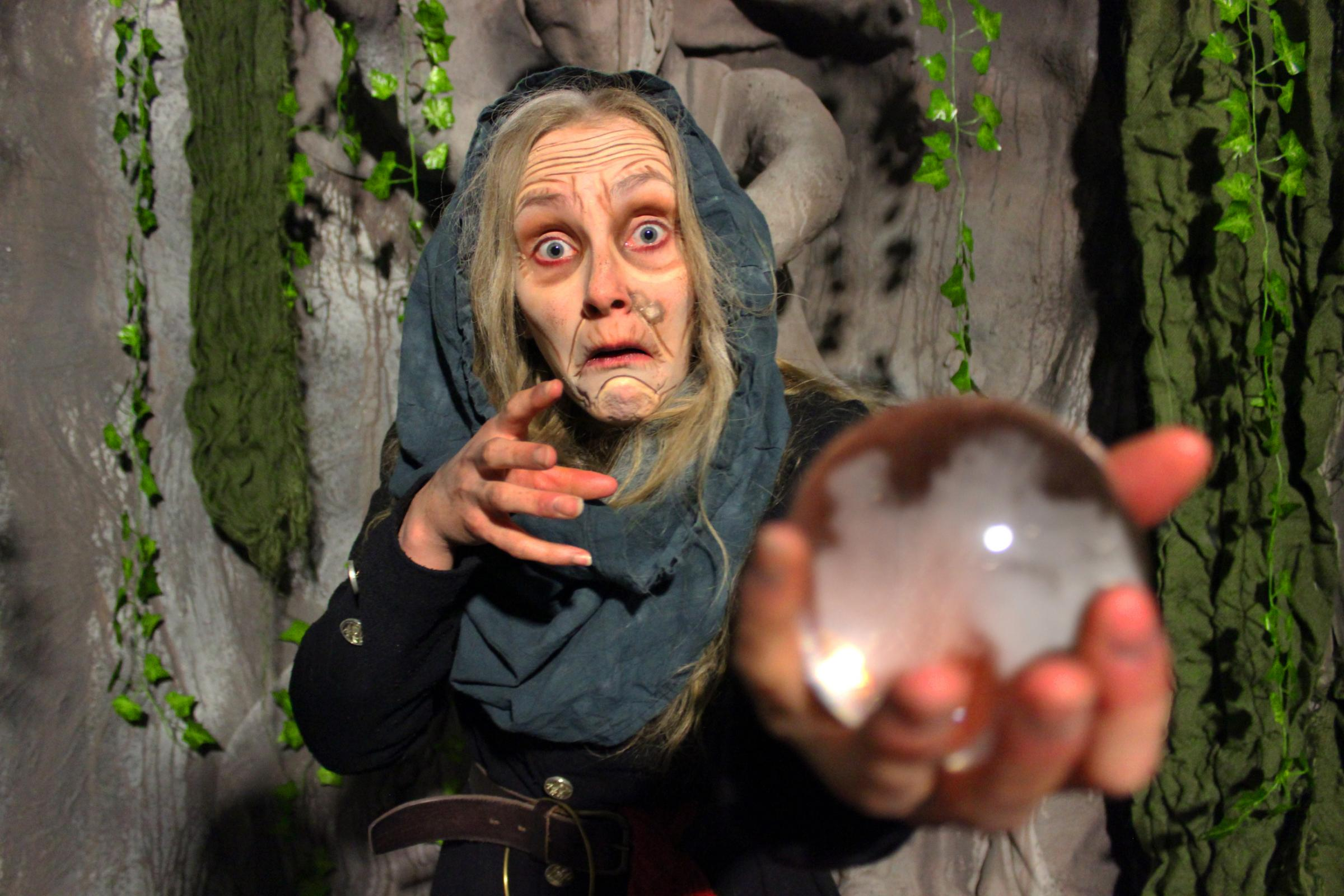 SPOOKY: Mother Shipton, played by Kat Cotton, brings her legacy and prophetess powers to the York Dungeon