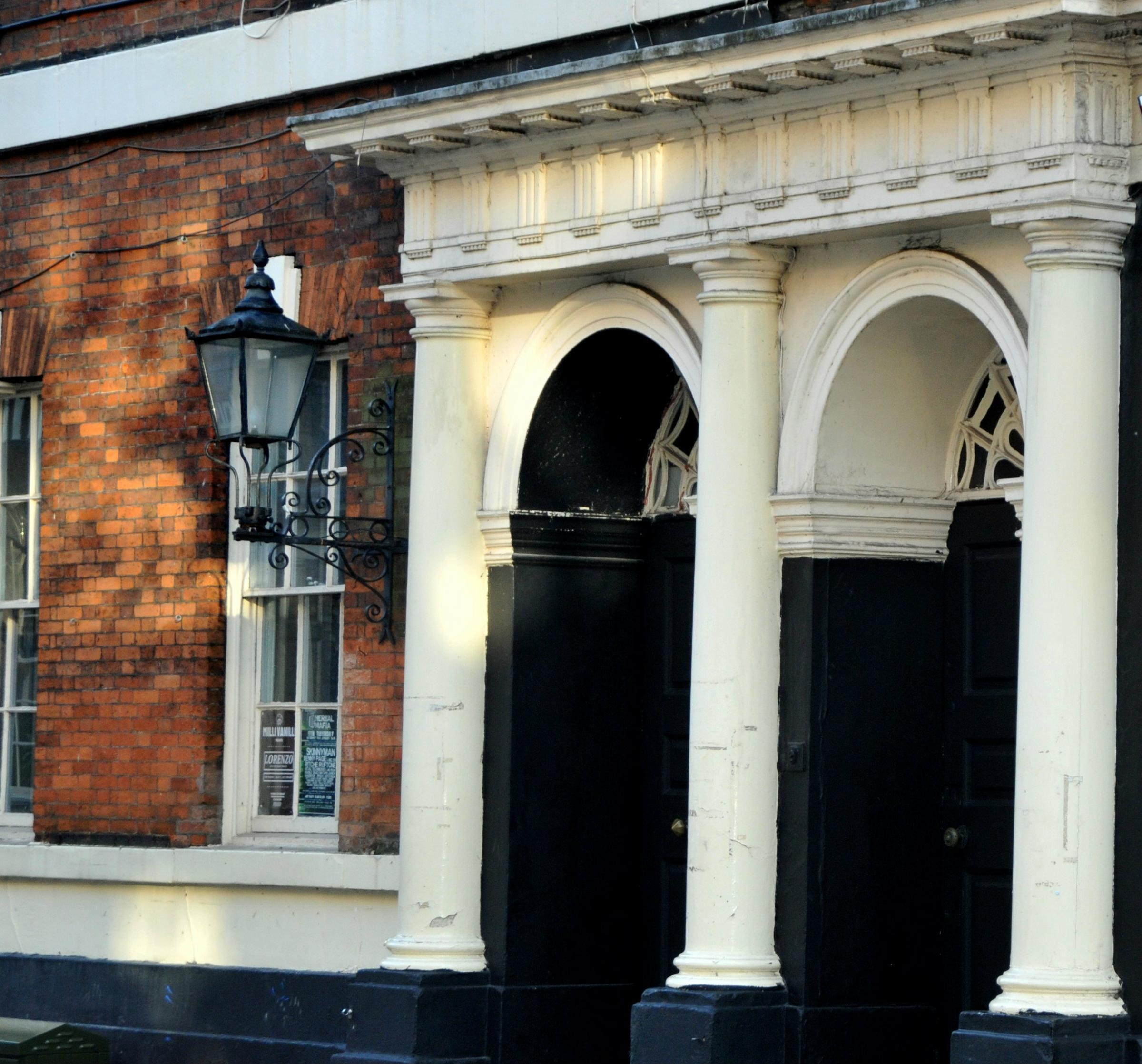LICENCE BID: The entrance to Upstairs and Mansion on Micklegate, York