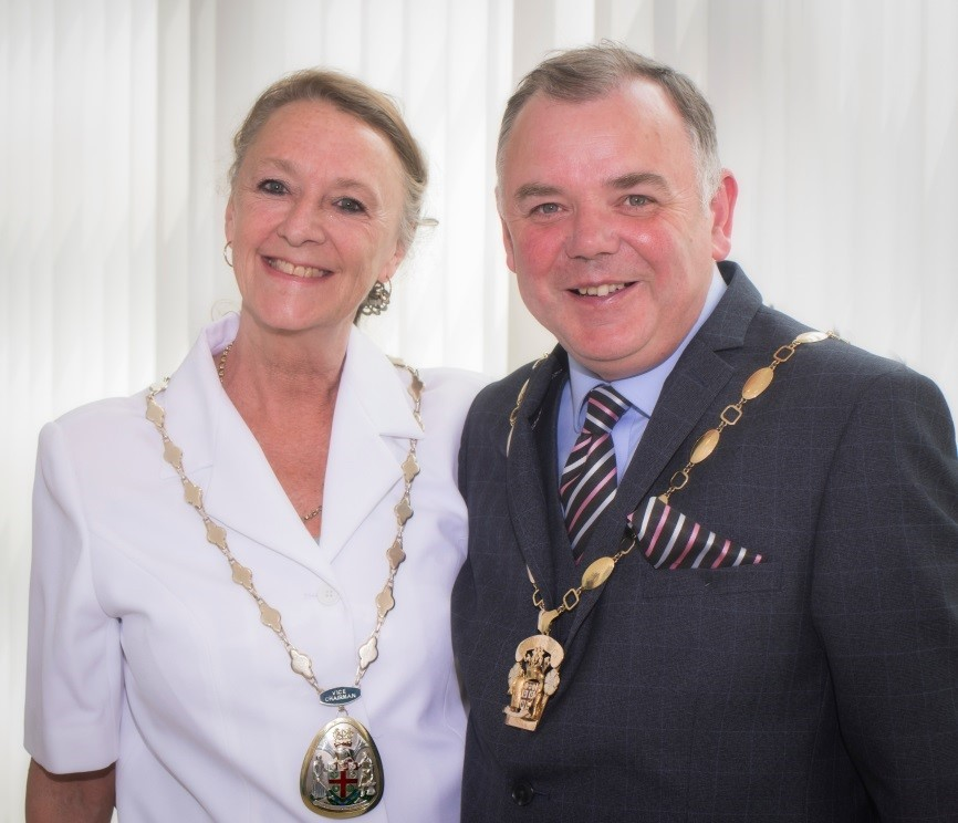 NEW FACES: New Selby District Council Chairman Cllr David Buckle and Vice Chairman Cllr Debbie White.