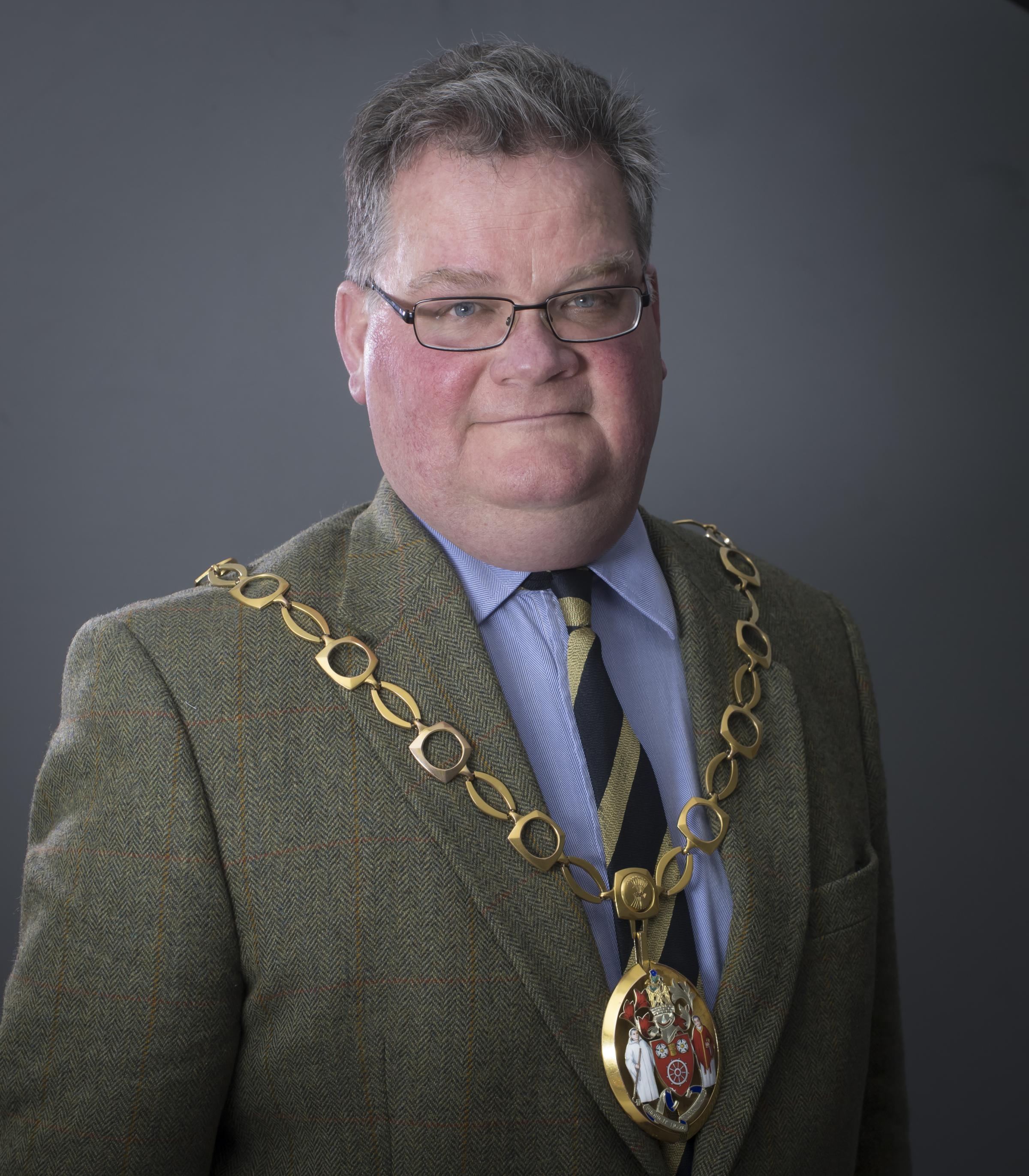 IN CHARGE The new chairman of Ryedale District Council Cllr Michael Cleary