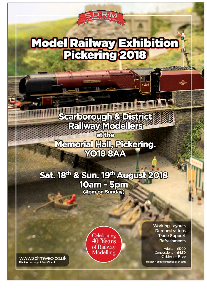 Scarborough and District Railway modellers' Model Railways Exhibition, Pickering 2018
