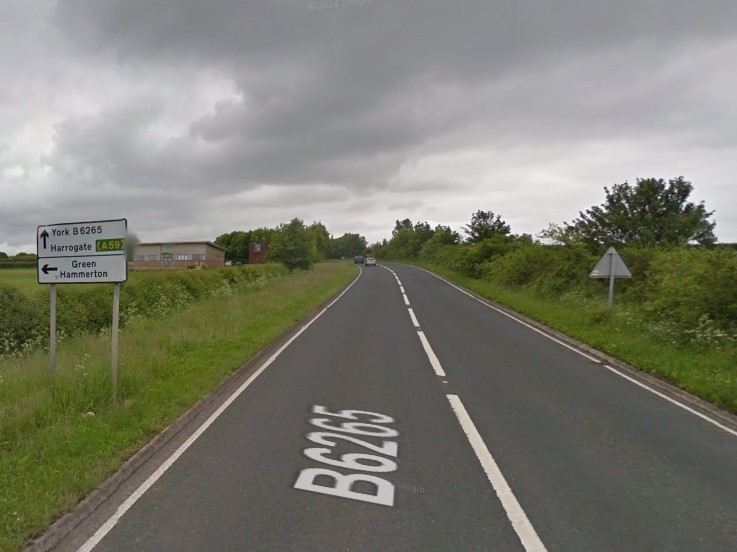 The B6265 near Green Hammerton. Picture: Google Maps