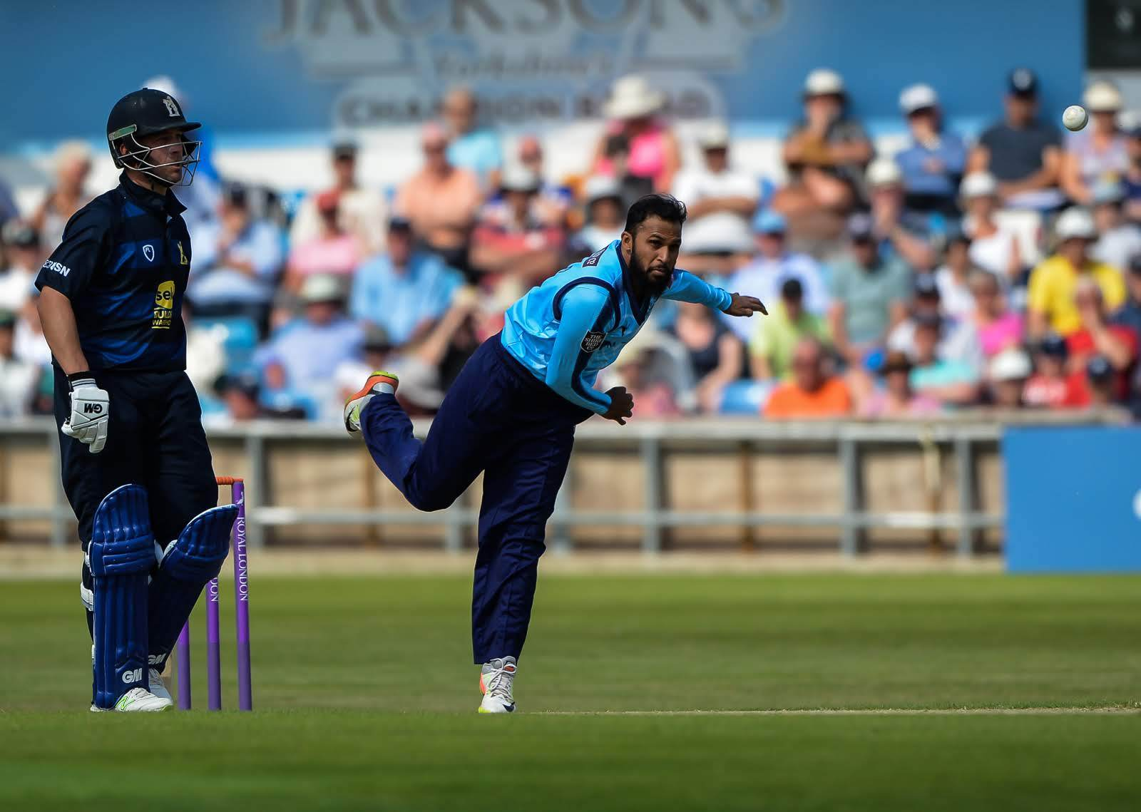 Adil Rashid, pictured in action against Warwickshire, has impressed with the white-ball on his return to Yorkshire    Picture: Ray Spencer